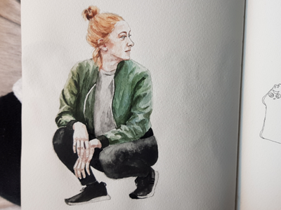 Elona aquarell sketch watercolor watercolour illustration