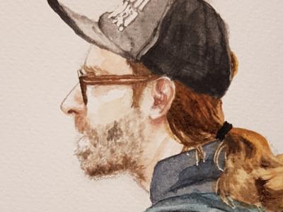 FFF Dad aquarell sketch watercolor watercolour illustration