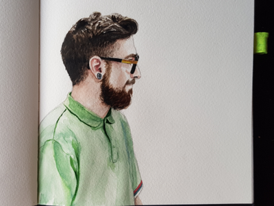 Clean aquarell sketch watercolor watercolour illustration