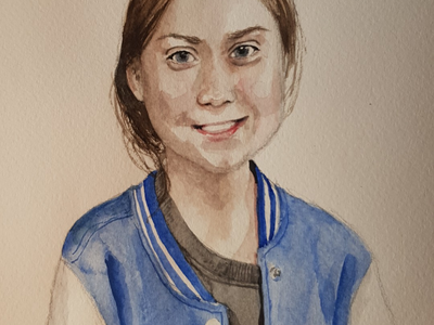 Greta aquarell sketch watercolor watercolour illustration