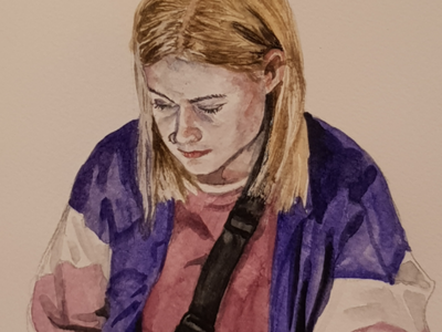 What's going on out there? aquarell sketch watercolor watercolour illustration