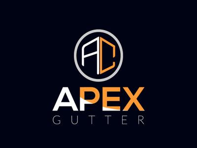 Apex gutter type brand identity minimal illustration logo vector typography logodesign flat brand design