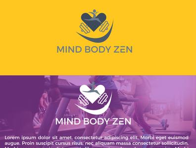 Mind body zen icon website animation typography flat logo brand identity logodesign minimal brand design
