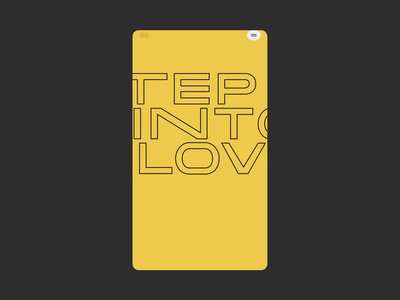 Aldo™ Step into Love · Introduction branding mobile ui mobile design storytelling interactive video splashscreen story typography animation mobile experience maniesto interactive webdesign typography art direction animation