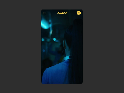 Aldo™ Step into Love ·  Beginning and tutorial design ui interface play dance dancer cta start tutorial animation video interactive tutorial webdesign branding interactive art direction animation typography