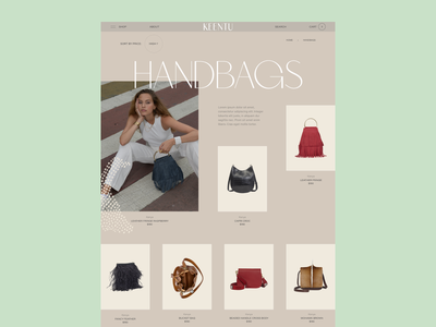 Keentu™ · Category Page hover category menu web design bag fashion african african woman africa grid shop ecommerce ui typo webdesign interactive typography interface art direction
