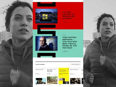 Journées de Soleure™ · Homepage grid festival film event homepage ui webdesign interactive interface art direction typography