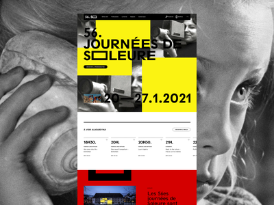 Journées de Soleure™ · Homepage grid festival film event homepage ui webdesign interactive interface art direction typography