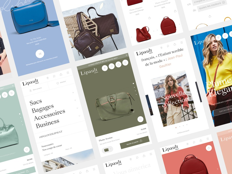 Lipault™ · Mobile e-commerce typo homepage sharp branding design ui art direction interactive webdesign typography interface animation