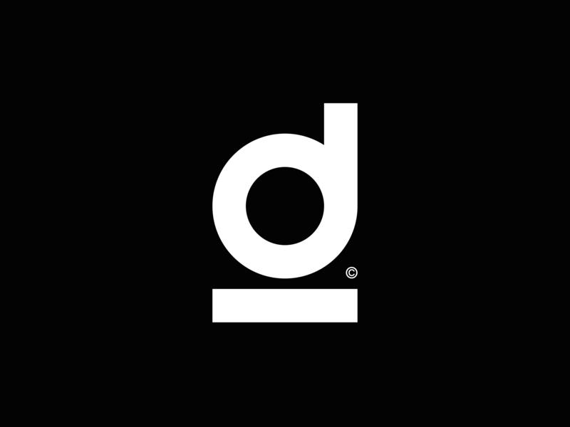 Dillinger™ ·  Monogram video art direction design sharp production agency monogram icon vector ui typography logo identity font branding typo