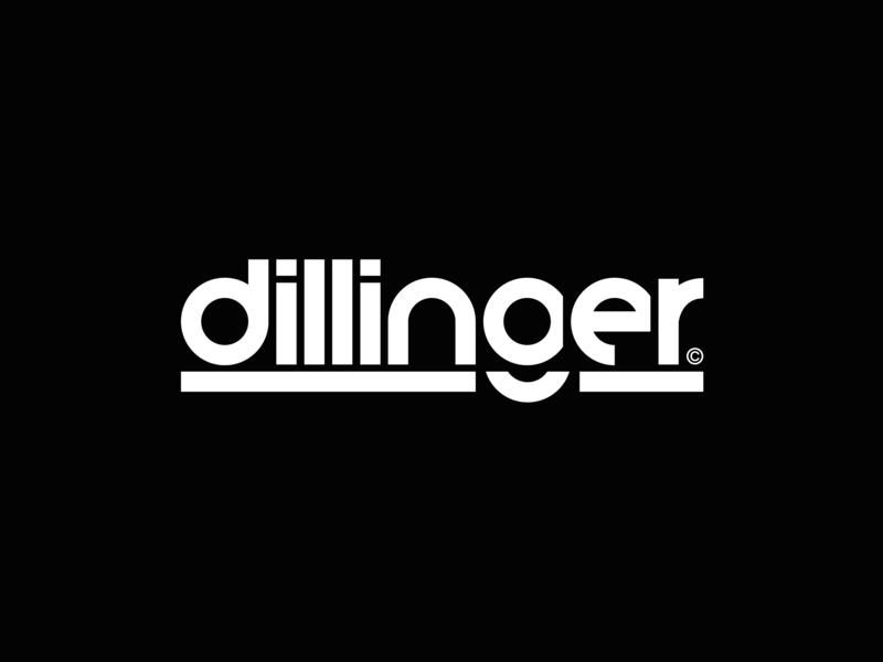 Dillinger™ ·  Logo video agency production icon design vector art direction typography logo identity font typo branding