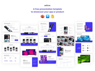 Selfone - Free Presentation Template google slides keynote freebie free design ui digital template slide design slides powerpoint microsoft