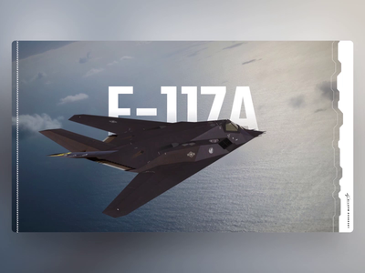 F-117A Nighthawk - PowerPoint Slides stealth aircraft 3d design ui animation slide design slides powerpoint microsoft