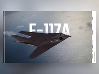 F-117A Nighthawk - PowerPoint Slides stealth aircraft 3d design ui animation slide design slides powerpoint microsoft