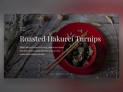 Recipe Web - PowerPoint Slides food cook prototyping design ui template animation slide design slides powerpoint microsoft