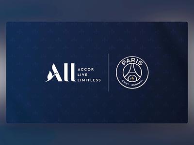 PSG ✕ ALL - PowerPoint Slides accor football paris branding logo digital animation slide design slides powerpoint microsoft