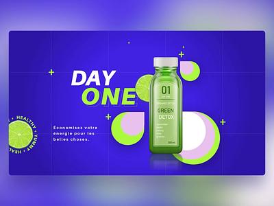 Organic Detox - PowerPoint Slides health juice natural drink design ui digital animation slide design slides powerpoint microsoft