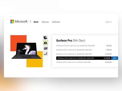 Microsoft Store - PowerPoint Slides e-commerce store 3d design ui digital animation slide design slides powerpoint microsoft