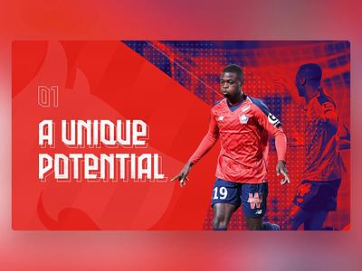LOSC - PowerPoint Slides lille club football branding design ui digital animation slide design slides powerpoint microsoft
