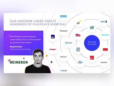 PlayPlay - PowerPoint Slides clients references portfolio testimonial motion video design ui digital animation slide design slides powerpoint microsoft