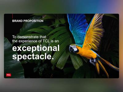 TCL - PowerPoint Slides movies entertainment electronics tv design ui digital animation slides slide design powerpoint microsoft