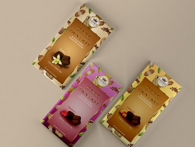 Crown Dark  Chocolate Package Design