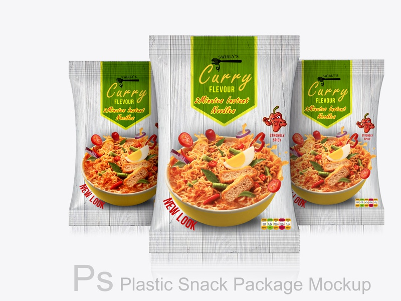Photoshop Noodle  Packaging