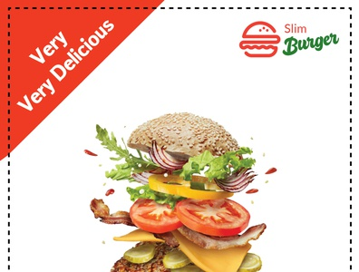 InDesign Burger flyer illustration typography design