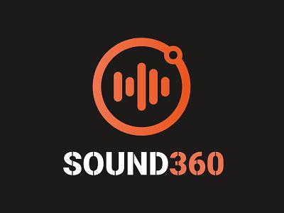 #13 - 30 day logo challenge sound 360 illustration minimal flat logo design vector design 30 day logo challenge identity logocore logo branding 30logos