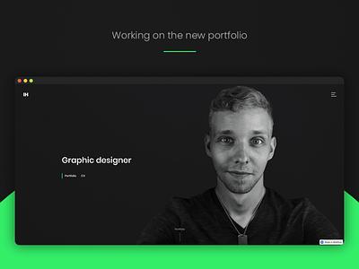 New portfolio landing page - Coming soon portrait webdesign photoshop webflow web landing page graphic design portfolio