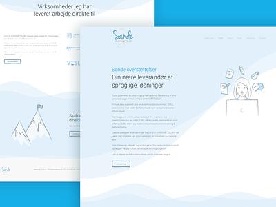 Translator website modern illustration translate translator yootheme wordpress webdesign design web