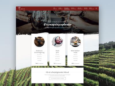 Liber Wine - Website design modern 3d images wineyard wine webdesign we design web
