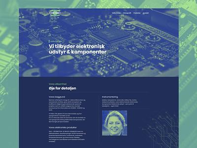 Scanconnect - Electronics components website green and blue gradient monocolor components electronic webdesign design web