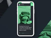 Mobile version of the portfolio landing page