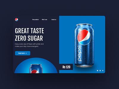 Daily UI #5 pepsi drinks webdesign uxdesign ecommerce webui uidesign