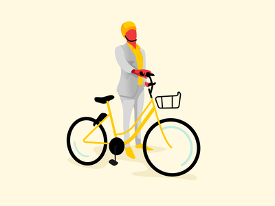 Biker bike scooter app mobility vector concept illustration design interface flat ui