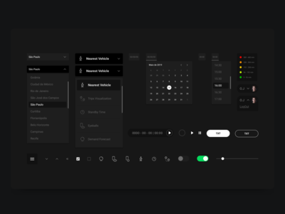 Dark theme - UI Kit