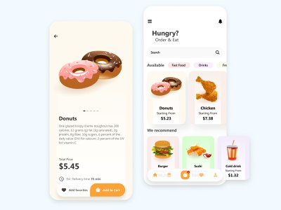 Hungry? modern mobile app figma ecommerce design mobile app ux ui