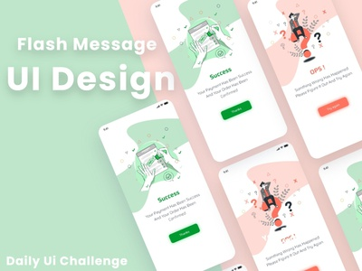 New Flash Messages UI Design DailyUI illustration ui ux uxui ux  ui ux design uxdesign uidesign