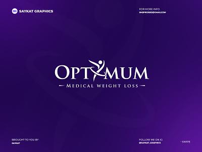 Optimum medical logo minimal logo esportslogo modern logo abstract logo awesome logo illustration monogram logo branding business logo