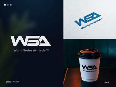 WSA - World Series Attitude ™ 2d design illustration abstract logo esportslogo logo design branding awesome logo business logo motion graphics animation saykatgraphics logos monogram logo wordmark logo ws logo branding logo graphic design 3d ui