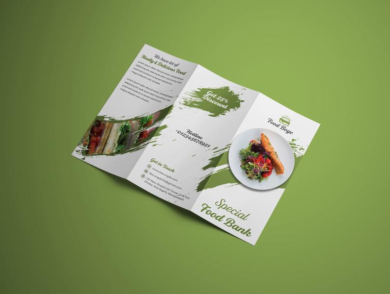 Food Menu Trifold Brochure Design Template amazon restaurant food menu trifold brochure branding banner design logo conference print template bundle bundle template advertisement