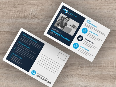 Business postcard design flyer design business event signage advert banner design postcard design business conference conference print template bundle bundle template branding advertisement
