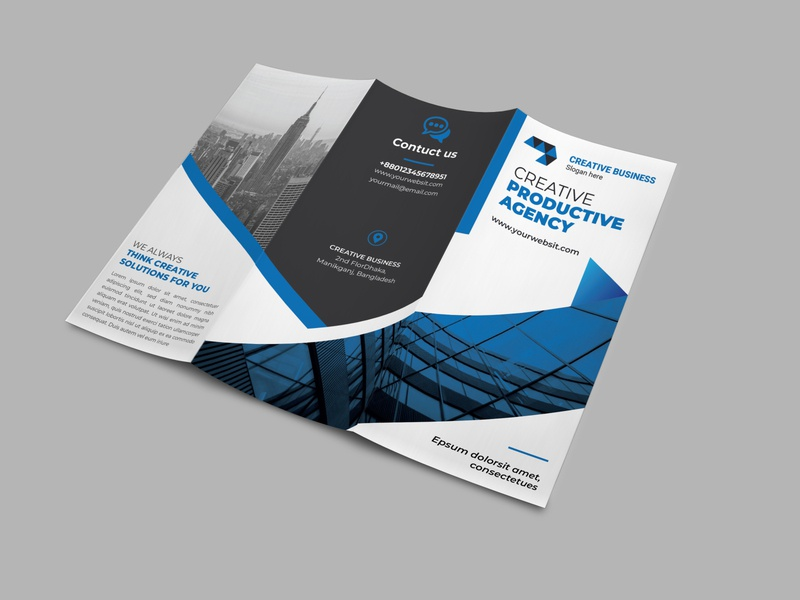 Trifold Busienss brochure travel agency corporate busines creative designer graphicdesign illustration construction worker advertisement bundle template business conference conference print template bundle advert branding trifold brochure design trifold brochure