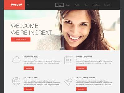 Increat - WordPress Theme
