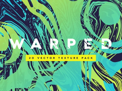 WARPED | 20 Vector Texture Pack paint ink fluid wave digital vector abstract marble texture