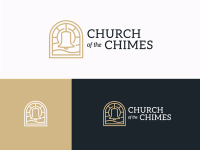 Church Of The Chimes - Logo mark identity branding church logo