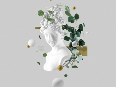 Faux 3D illustration photoshop abstract