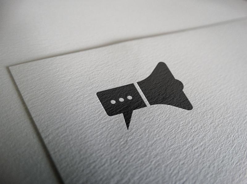 chat logo mockup