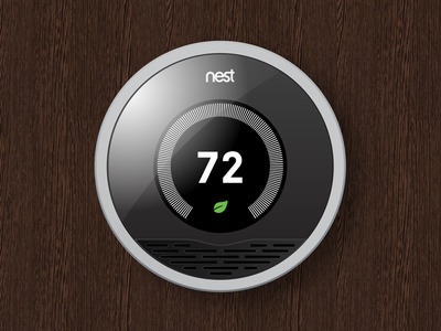 Dribbble Debut - Nest Thermostat [PSD] nest thermostat design vector photoshop illustrator